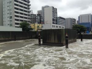 平成24年度だけでも、実に東京ドーム15杯分の未浄化下水が運河に放水されました。